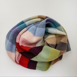 GAP Rainbow Stripe Wool Ribbed Scarf